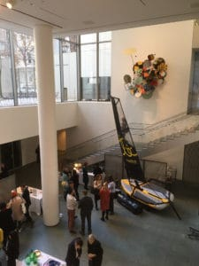 Le Dériveur Gonflable Tiwal 3 exposé au Musée d'Art Moderne à New York