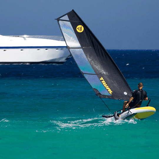 Marion Excoffon sailing on Tiwal's wings