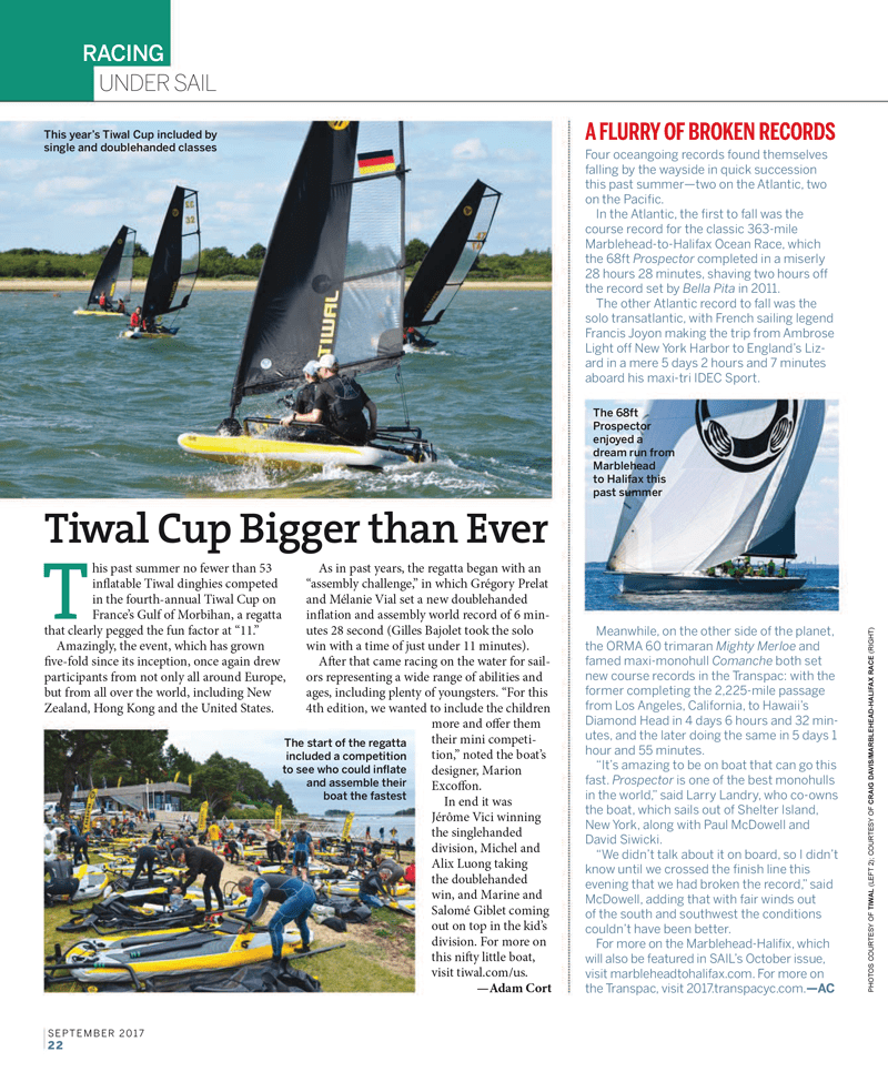 tiwal in sail magazine