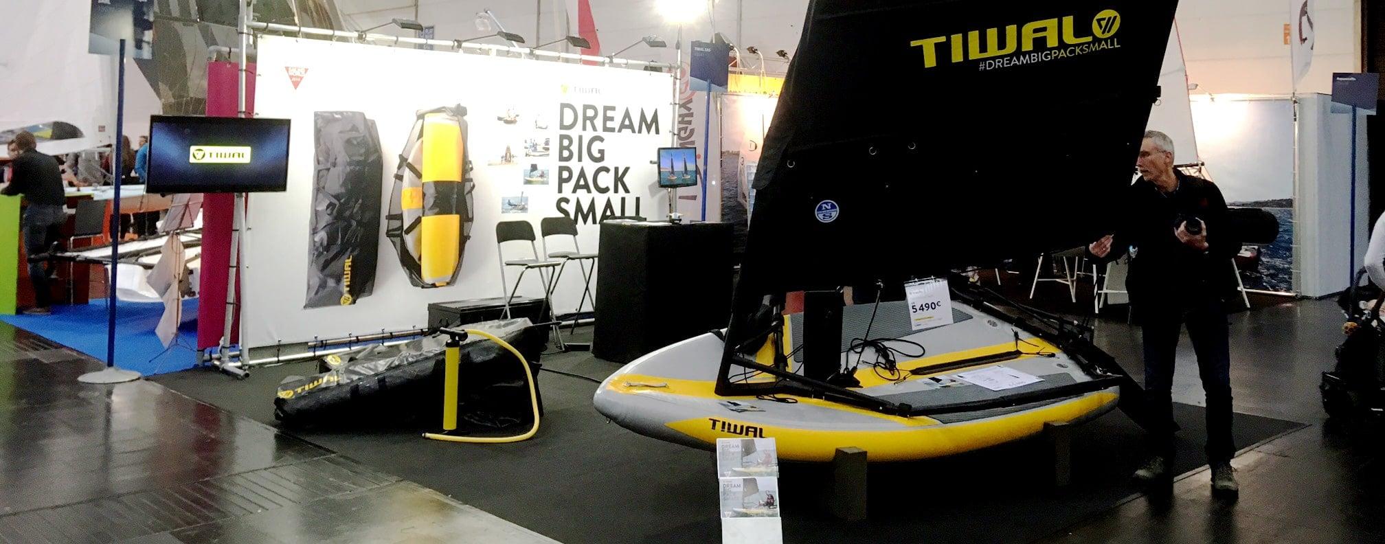 Tiwal inflatable sailboat at the German Boot in Düsseldorf