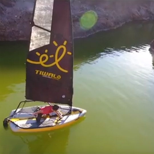 Tiwal 3 sailing in dramatic landscapes in Namibia