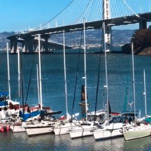 Edward sails his Tiwal in San Francisco bay