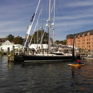 Tiwal 3 inflatable sailboat a the Annapolis US Sailboat Show