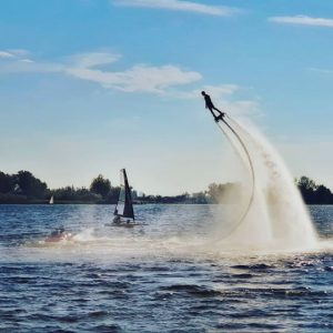 Tiwal 3 sailing dinghy and Jetlev watertoy