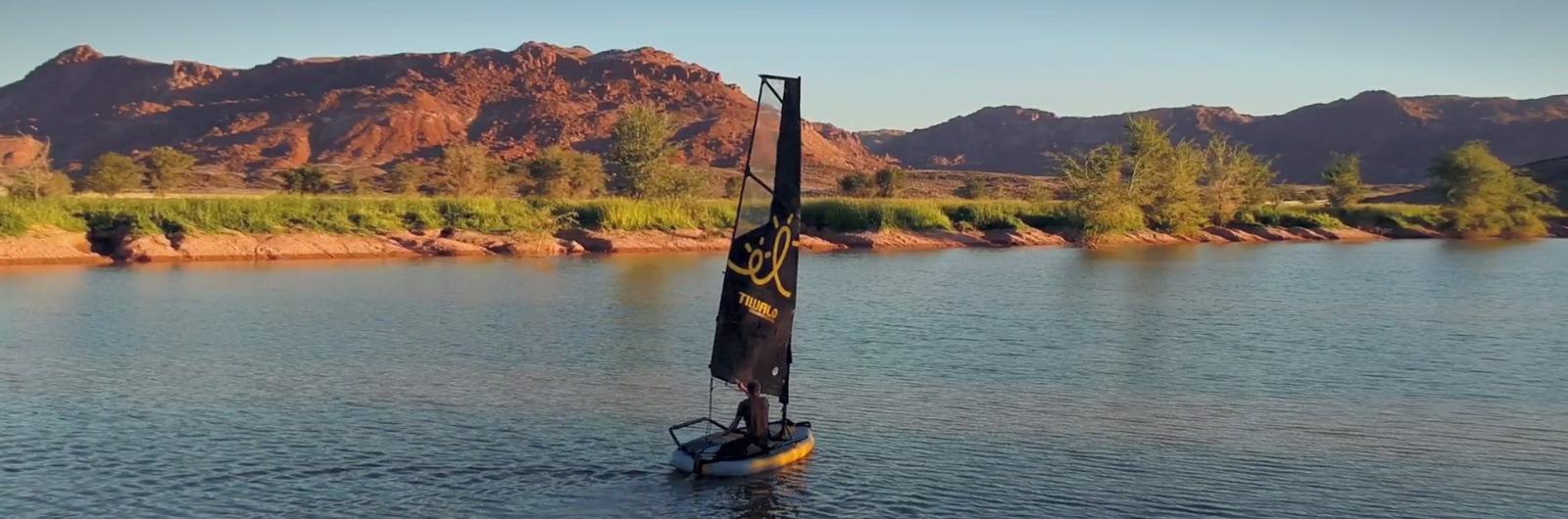 Tiwal 3 sailing dinghy in Namibia