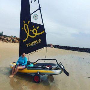 Tiwal 3 inflatable sailboat in Senegal, Africa