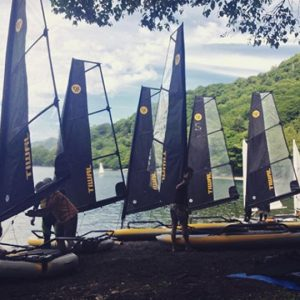 Preparing for a Tiwal regatta in Japan