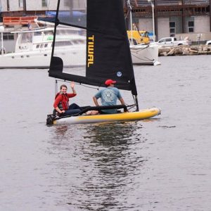 Get Wet Sailing tried the Tiwal 3 in Annapolis Maryland