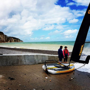 Sailing my Tiwal in Pourville