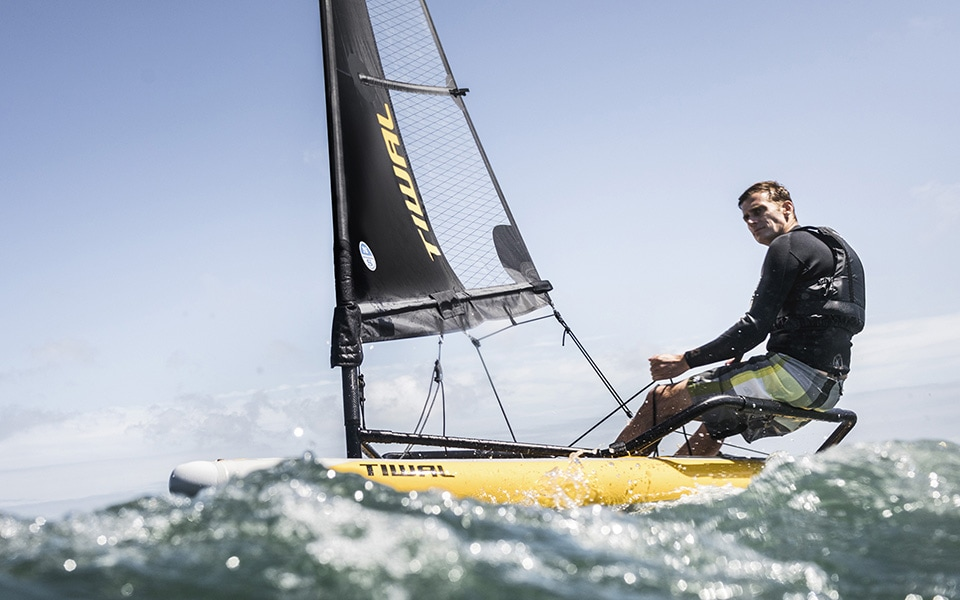 Performing inflatable Sailing Dinghy