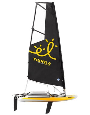 Tiwal 3 inflatable Sailboat sideview