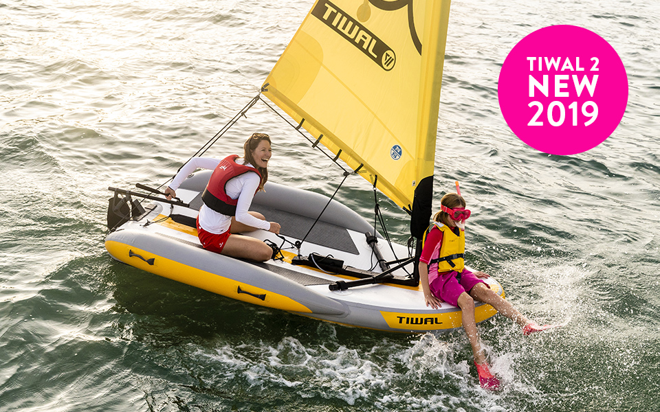 The brand new inflatable sailboat Tiwal 2