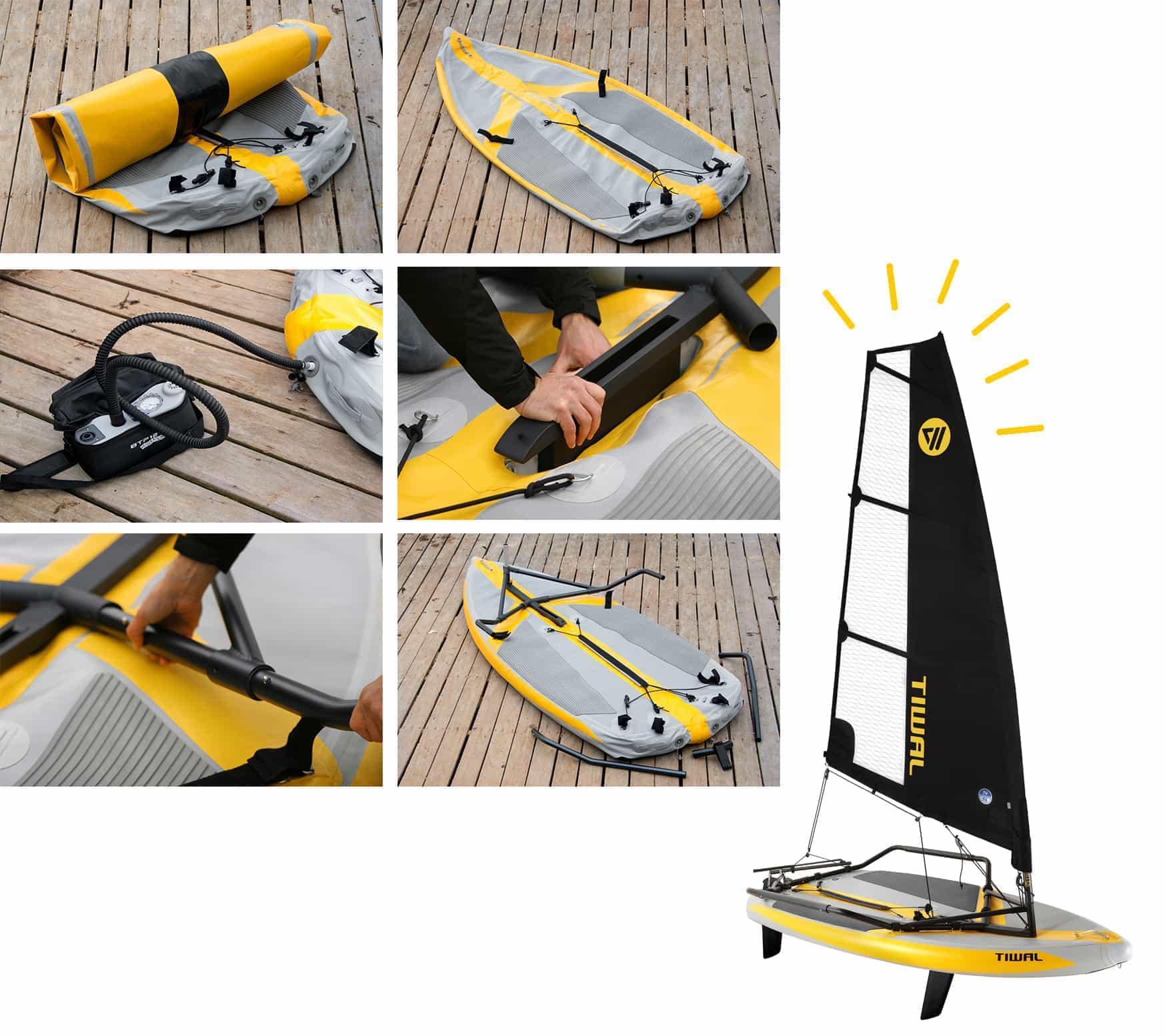 Tiwal 3 sailing dinghy assembly steps
