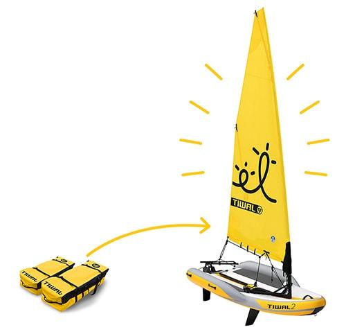 Aufblasbares Segelboot Tiwal 2