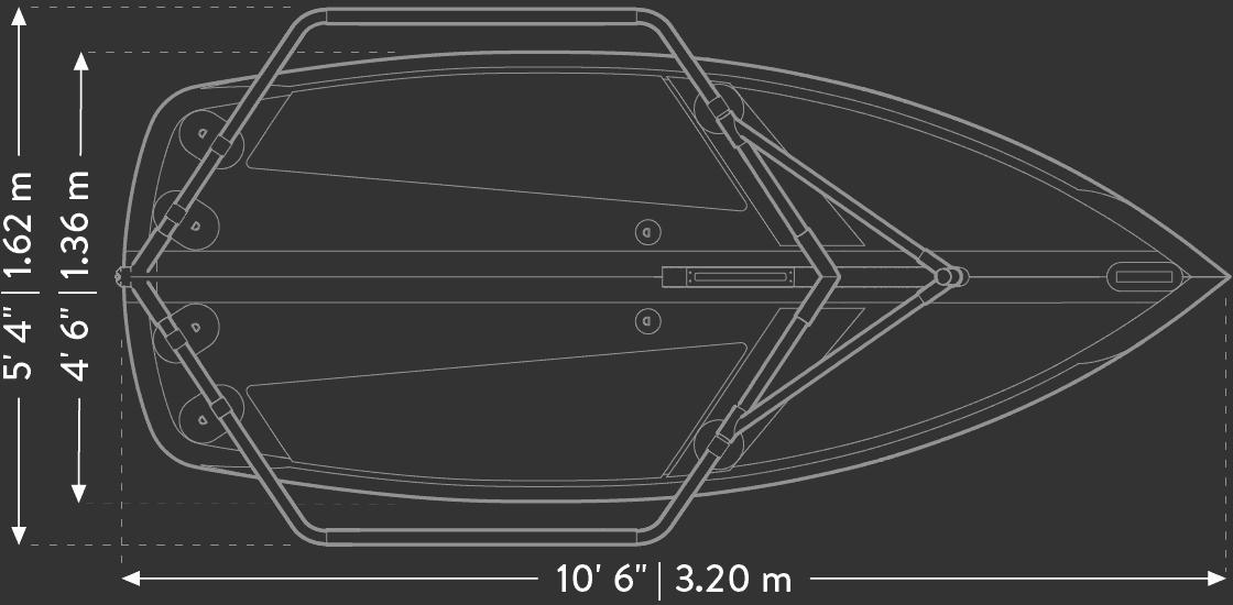 Tiwal 3 compact sailboat hull design and dimensions