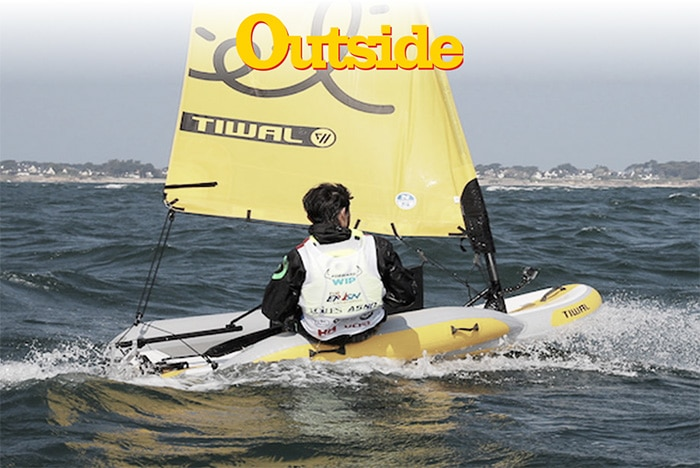 Essai presse du petit bateau gonflable Tiwal 2