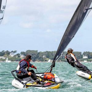 Close Hauled Dinghy Sailing