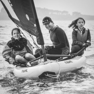 Father's day sailing on Tiwal sailboat