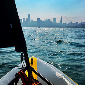 Calm and quiet sailing in San Francisco