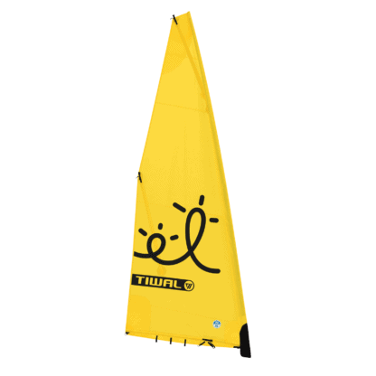 5.6 m² yelllow furling sail for Tiwal 2 inflatable sailboat